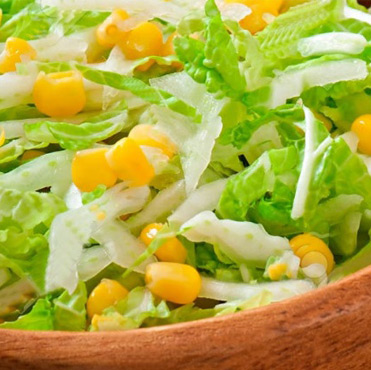Aloe Vera, Corn and Lettuce salad