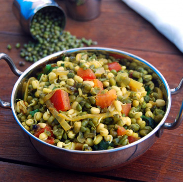 Sprouts and Karela Chaat